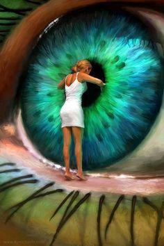 dentro del ojo