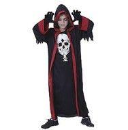 Zwart spook kostuum kind Halloween