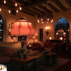 Chateau Marmont Hotel (opened Los Angeles, CA. Hollywood Hills Homes, West Hollywood, Library Inspiration, Chateau Marmont, Hollywood Wedding, Lamp Light, Bungalow, Mid Century, 2020 Vision
