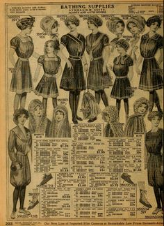 Bathing dresses from 1912 Sears catalog.