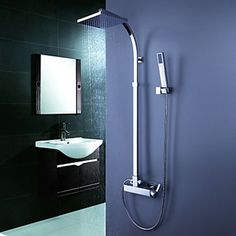 Contemporary Tub Shower Faucet With 8 Inch Head Hand