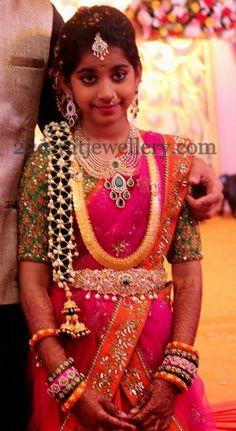 Shriya Half Saree Function