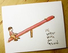 It's better with you around  I miss you card by kateberube on Etsy, $4.00 w