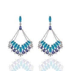 Fine Jewelry Diamond 2.10ct Natural Tanzania Blue Tanzanite & Egl Certified Diamond Ring 14kt Gold