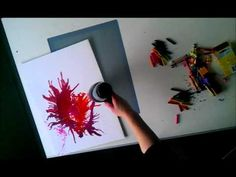 Watch me make abstract art using melted crayons! - YouTube