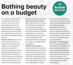 Featured in Australian Magazine - Canberra Weekly Dream Bathrooms, Bathing Beauties, Budgeting, Dreaming Of You, Create Yourself, Magazine, Feelings, Budget Organization, Magazines