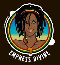 Empress Divine, Rasta Reggae Girl Illustration #reggae #illustration #illustrator #rasta