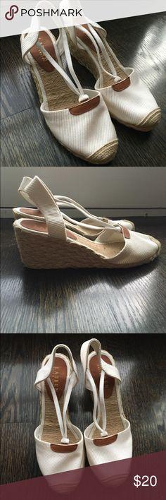 Ralph Lauren wedges Unworn espadrilles. 2.7 inch heel. Size 8 Ralph Lauren Shoes Espadrilles