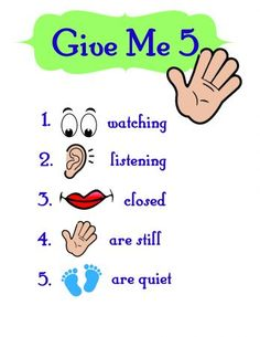 Give Me 5! – Obedience Chart For Class Settings Or Group Teaching | Parenting Self-Government