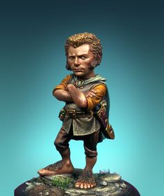 This is an old Sculpture in to create my view and proportion of a halfling, as well as his actitud. Sculpture, Statue, Cartoon, Artwork, Painting, Character, Models, Attitude, Templates
