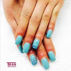 Blue sky diamond #trannails #nageldesign #nagelstudioerbach #nailart #wallofnails #gel #manicure