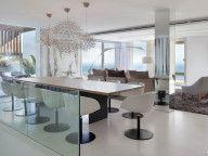 Contemporary Elements es roca llisa: a modern villa located on the island of ibiza. the