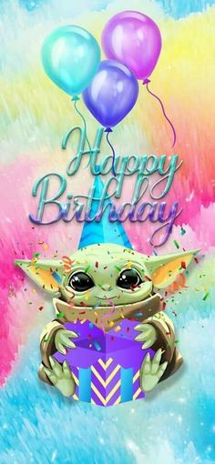 Funny Happy Birthday Messages, Happy Birthday Baby, Birthday Wishes Quotes, Happy Birthday Pictures, Happy Birthday Greetings, Birthday Jokes, Yoda Funny, Yoda Meme, Yoda Images