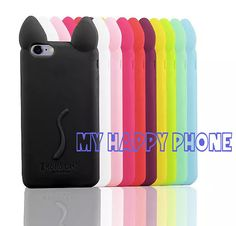 3D Color iPhone 6 Plus Case Silicone Iphone Case by MyHappyPhone