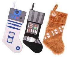 Meias de Natal do Star Wars.