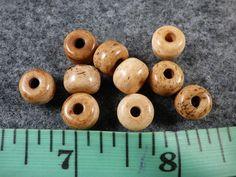 10 Cherokee Indian Tellico Glass Trade Beads Good Patina