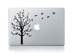 Tree and birds -- Mac Decal Mac Sticker Macbook Decals Macbook Stickers  Vinyl Decal for Apple Laptop Macbook Pro / Macbook Air / iPad