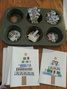 Holiday cards for the kids to make.