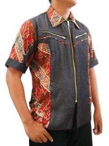 Kemeja batik pria denzel ini cocok untuk kamu pria bertubuh gemuk agar terlihat lebih langsing :)