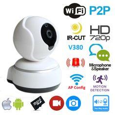 720P IP Camera Wifi Plug and Play Smart Camera Pan&Tilt V380 App P2P Cloud Two Way Audio Hotspot Camera Wlan Kamera
