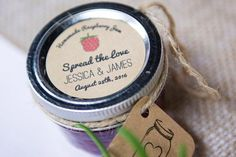 DIY Jam Wedding Favours Rustic Barn