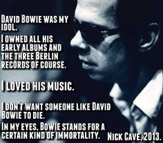 Nick Cave Agree.