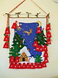 FREE SHIPPING USA Christmas Advent Calendar With by AllasOriginals