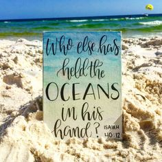 Ocean Bible Verse Painting // Watercolor by KTsCanvases on Etsy