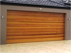 garage doors modern wood - Google Search