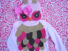 Super cute owl costume-perfect for baby's first halloween or newborn pictures. $20.00, via Etsy.