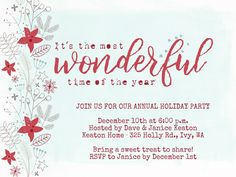 46 best christmas party invitations images on pinterest invitation we designed a collection of festive christmas invites stopboris Choice Image