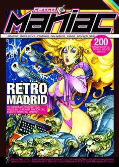 Portada RetroManiac #8, creado por Alfoso Azpiri, para RetroManiac.    ¿a qué mola? ;-)