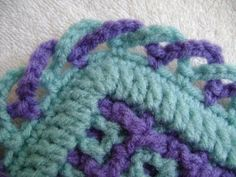 Interlocking Crochet™ - Criss-Cross Edging, My Crafts and DIY Projects