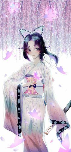 Kimetsu no yaiba Anime Neko, Kawaii Anime Girl, Anime Art Girl, Manga Anime, Demon Slayer, Slayer Anime, Estilo Anime, Handsome Anime Guys, Anime Angel