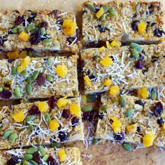 Apricot, Coconut and Pumpkin Seed Muesli Bars by Nadia Lim | NadiaLim.com