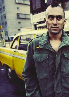 "DeNiro in still from Scorsesse's ""Taxi Driver"""