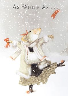 "bellasecretgarden: "" (via It's Snowing! Marjolein Bastien, Vera the Mouse 