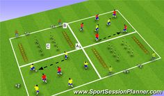 Conditioning - SAQ Technical/Tactical Exercises - Group, Physical: Agility, Moderate, Part I: SAQ Rondo, Organization- Fun Soccer Drills, Football Coaching Drills, Soccer Training Drills, Soccer Practice, Soccer Tips, Soccer Games, Circuit Training, Sports Training, Soccer Skills For Kids
