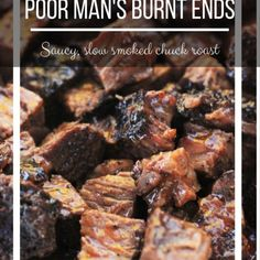 This BBQ Burnt Ends Recipe make the most amazing melt in your mouth burnt ends, using the more affordable chuck roast! Burnt Ends Recipe Oven, Pork Burnt Ends, Brisket Burnt Ends, Chuck Roast In Oven, Smoked Chuck Roast, Chuck Roast Grilled, Smoked Brisket, Pork Roast, Roast Recipes