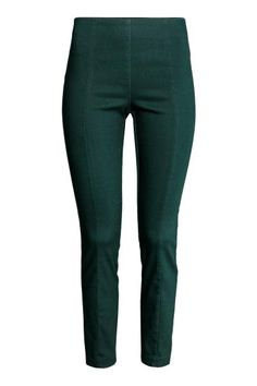 Treggings in superstretch twill with concealed elastication at the waist and slim legs with a seam down the centre. Treggings, Slim Legs, Trousers, Pants, Dress Codes, Nice Dresses, Black Jeans, Classy, Skinny Jeans