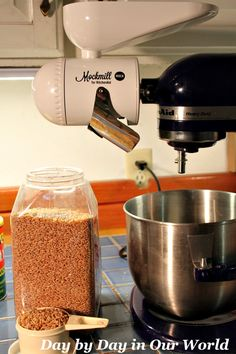 Grab your favorite grain and start grinding with the Mockmill and your KitchenAid stand mixer. Healthy Bread Recipes, Muffin Recipes, How To Make Bread, Bread Making, Kitchenaid Stand Mixer, Whole Grain Bread, Cleaning Recipes, Kitchen Gadgets, Grinding