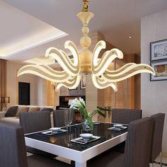 Modern chandeliers LED lamp Metal acrylic lighting fixture for living room restaurant bar bedroom(China (Mainland))
