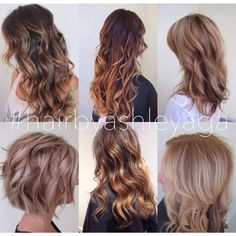 #hairbyashleyaga || balayage; sombré; bronde; colormelt;