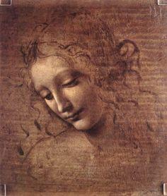 Head of a Young Woman With Tousled Hair (Leda) by Leonardo da Vinci, 1508
