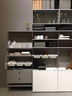 String System shelves. String Shelf, String System, Stockholm, Home Office, Bookcase, Sofa, Shelves, Organization, Storage