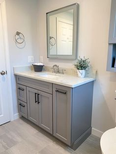 Expanded Bathroom in Melrose | McGuire + Co. Kitchen & Bath Wakefield, MA Guest Bathrooms, Bathroom Renos, Small Bathrooms, Basement Bathroom, Bathroom Cabinets, Beautiful Bathrooms, Bathroom Renovations, Bathroom Interior, Master Bathroom