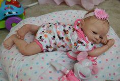 OOAK Reborn baby girl with 3d skin Camille art doll artist newborn