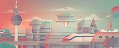 Retro Future Illustrations on Behance