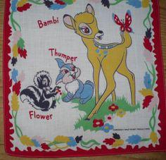 Walt Disney Bambi Handkerchief
