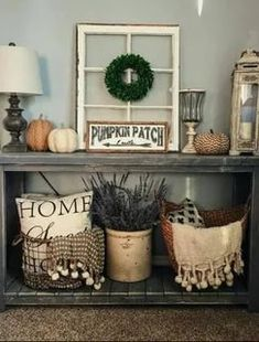 New Rustic Home Decor Pictures - Bweb. Rustic Entryway, Entryway Decor, Entryway Tables, Entryway Ideas, Fall Entryway, Hallway Ideas, Farmhouse Style Decorating, Farmhouse Decor, Farmhouse Design
